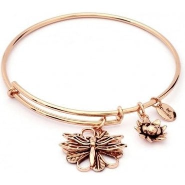 Charmed Dragonfly Expandable Bangle