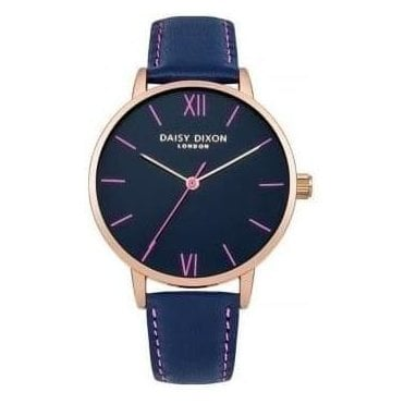 Annie Navy and Rose Gold Watch