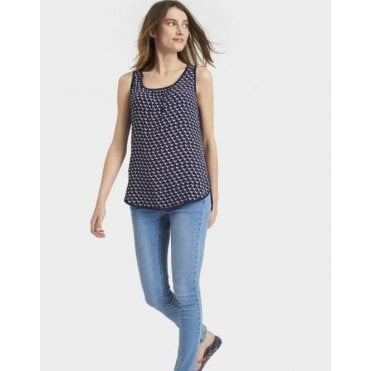 Iris Sleeveless Woven Mix Top