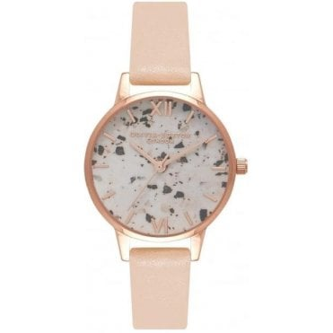 Vintage Marble Nude Peach And Rose Gold Watch