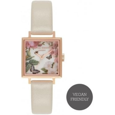 Enchanted Garden Nude And Rose Gold Watch