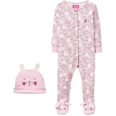 Baby Girls Joy Babygrow And Hat Set