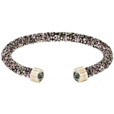 Crystaldust Cuff in Violet and Rose Gold Plate (S)