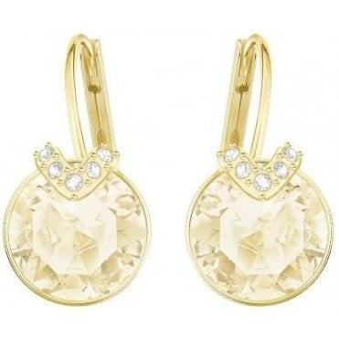 Bella V Gold Pierced Earrings