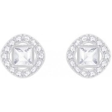 Angelic Diamond Square Pierced Earrings