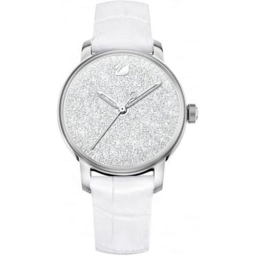 Crystalline Hours Watch in White and Silver