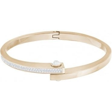 Get Narrow Bangle in White and Rose Gold