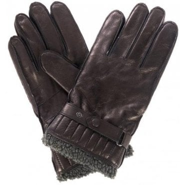 Men's Black Tindale Leather Gloves