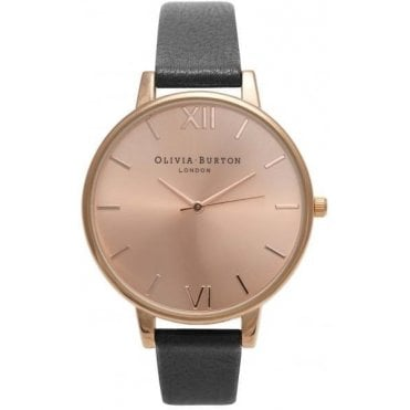 Black And Rose Gold Watch