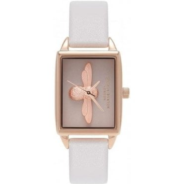 Moulded Bee Blush And Rose Gold Watch
