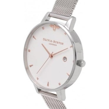 Queen Bee Rose Gold And Silver Mesh Watch