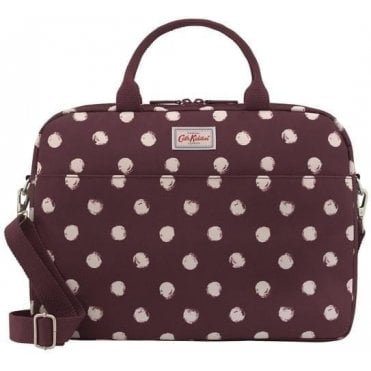 Smudge Spot Laptop Bag in Maroon