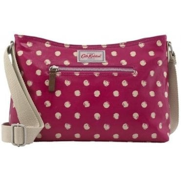Mini Smudge Spot Zipped Cross Body in Cerise