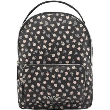 Lucky Rose Mini Cross Body Backpack in Charcoal