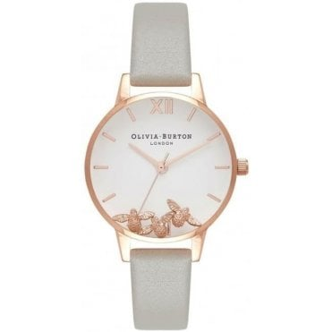 Buzzing Bees Grey And Rose Gold Watch