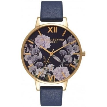 Enchanted Garden Midnight And Gold Watch