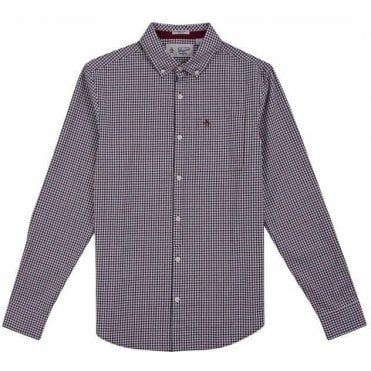 Men's Long Sleeve Gingham Shirt