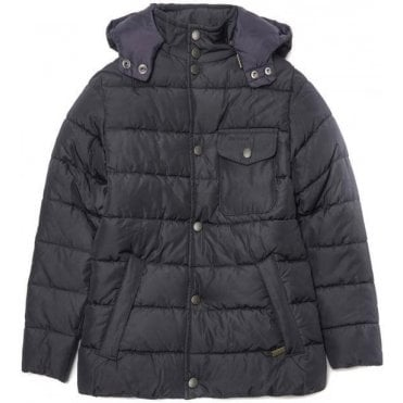 Boys Cowl Neck Quilted Jacket