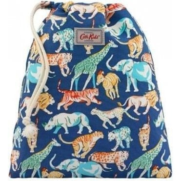 Safari Animals Drawstring Wash Bag