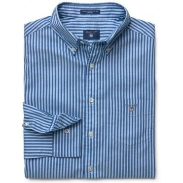 Mens Heather Oxford Stripe Shirt