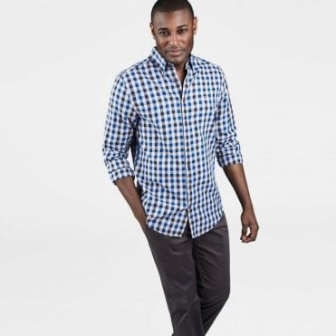 Men's Nordic Plaid Gingham Shirt