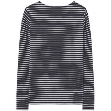 Women's Rib Stripe Long Sleeve T-Shirt