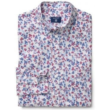 Women's Stretch Broadcloth Mini Floral Shirt