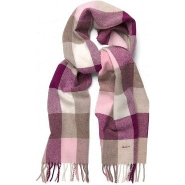 Womens Multicheck Lambswool Scarf