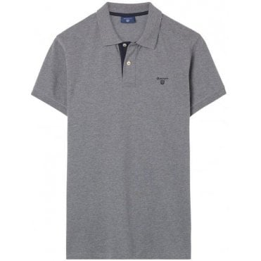 Men's Contrast Collar Rugby Shirt