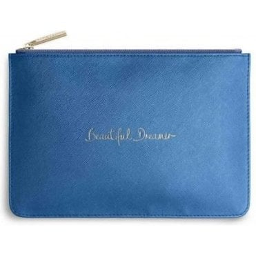 Beautiful Dreamer Perfect Pouch in Metallic Dark Blue