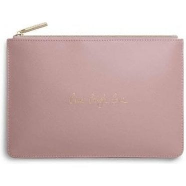 Live Laugh Love Perfect Pouch in Pink