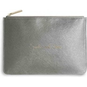 Sparkle And Shine Perfect Pouch in Metallic Grey