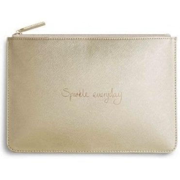 Sparkle Everyday Perfect Pouch in Metallic Gold