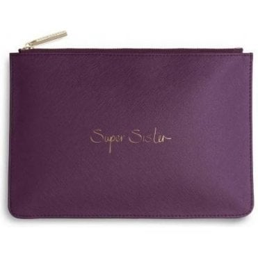 Super Sister Perfect Pouch in Purple Berry