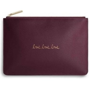 Love Love Love Perfect Pouch in Burgundy