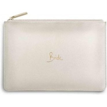 Bride Perfect Pouch in Metallic White
