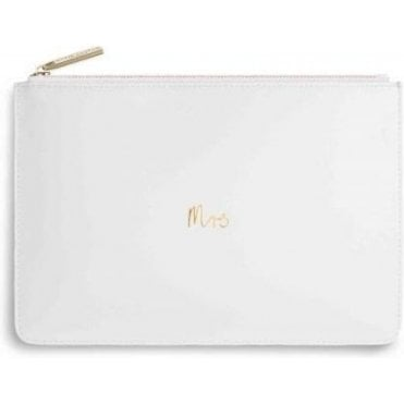 Mrs Perfect Pouch in White