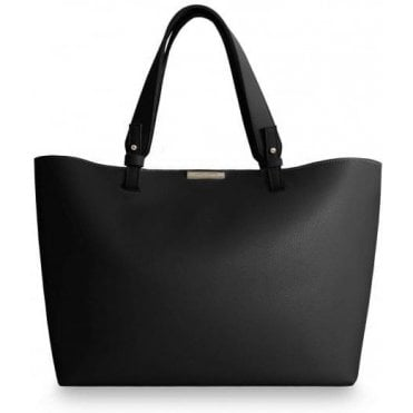 Piper Soft Black Tote Bag