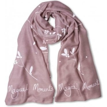 Dusky Pink Sentiment Scarf Magical Moments
