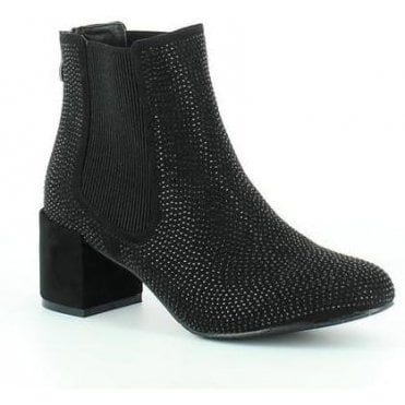 Wave Ladies Heeled Ankle Boots