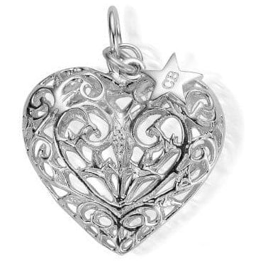 Iconics Large Silver Filigree Heart