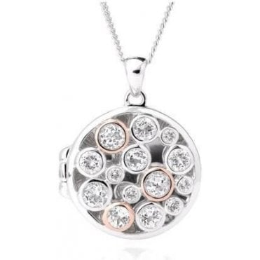 Silver and Rose Gold Celebration Locket