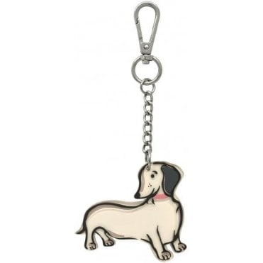 Sausage Dog Keyring Mini Mono Dogs