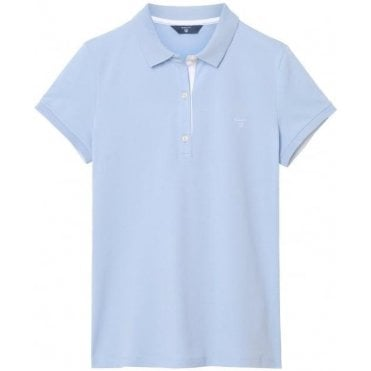 Women's Short Sleeved Contrast Collar Piqué Polo