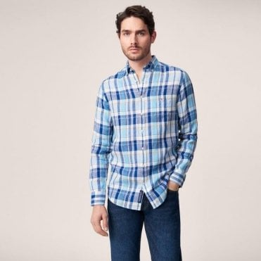 Men's Linen Madras Shirt