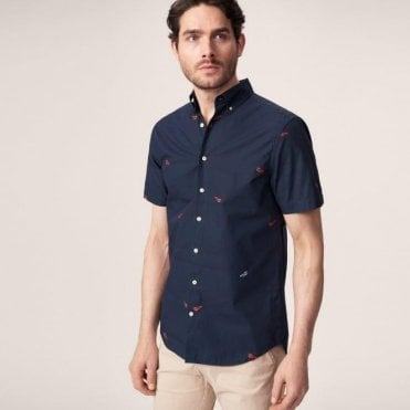 Men's Short Sleeved Lobster Fil-Coupé Shirt