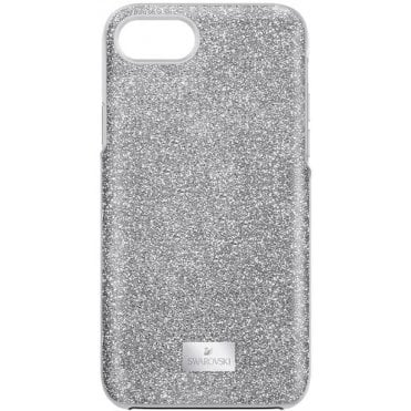 High iPhone 7/8 Case in Sparkly Silver