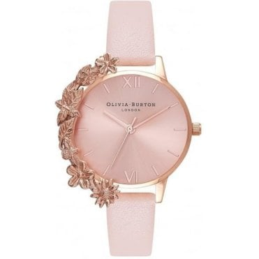 Case Cuff Nude Peach & Rose Gold Watch