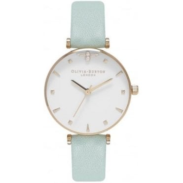 Midi Dial Queen Bee Mint & Gold Watch