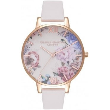 Enchanted Garden Nude & Rose Gold Watch